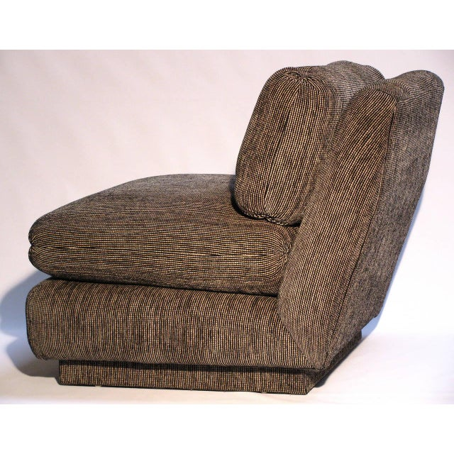 Marge Carson Modern Armless Lounge Chairs - A Pair - Image 2 of 7