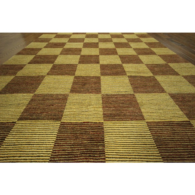 "Checkered Gabbeh Kashkuli Rug - 8'2"" x 10'6"" - Image 6 of 10"