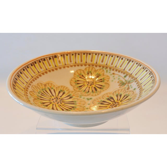 Mid-Century Janet Rothman Floral Bowl - Image 3 of 11