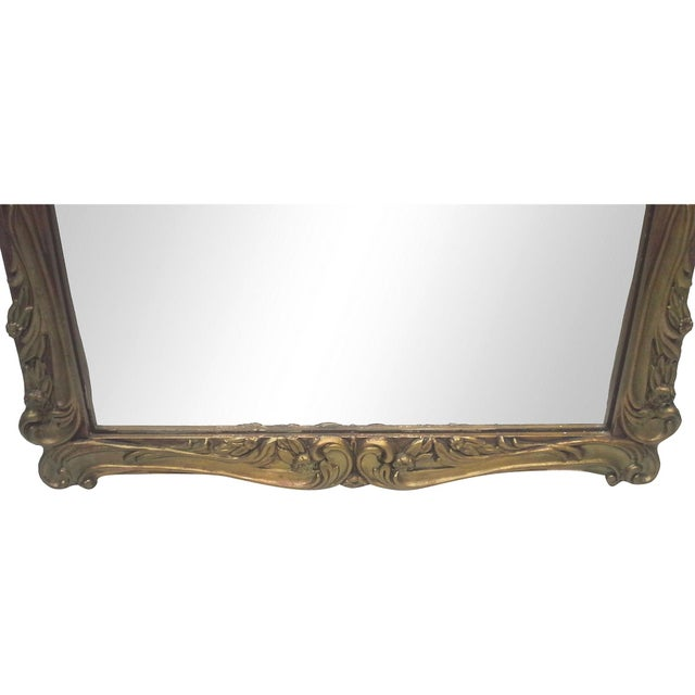 Gilt Art Nouveau Wall Mirror - Image 6 of 7