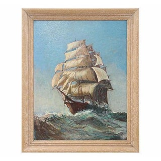 1940's Seascape Oil Painting
