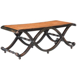 Sarreid LTD Ebonized Double 'X' Bench