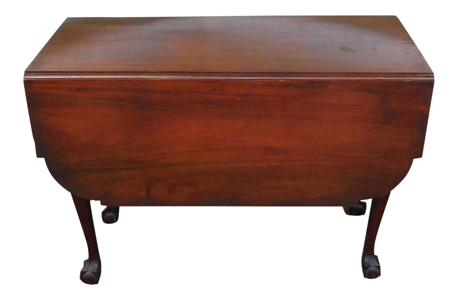 image of american chippendale mahogany drop leaf table