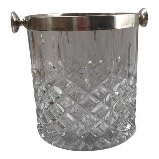 Lead Crystal Silver Rim Ice Bucket