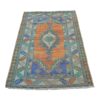 Antique Small Wool Rug - 3′7″ × 5′4″