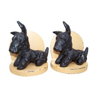 Art Deco Scottie Dog Bookends - Pair