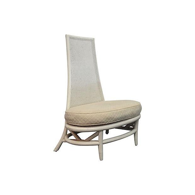 Mid-Century Hollywood Regency High Back Chair - Image 3 of 5