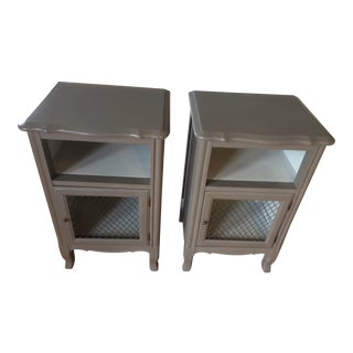 French Provincial Bedside Tables - Pair