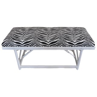 Ficks Reed Zebra Bench