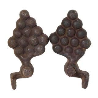 Grape Iron Decorations - A Pair