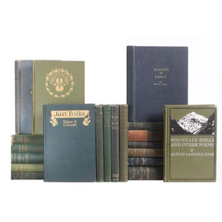 Pocket-Sized Blue & Green Poetry Books - Set of 20
