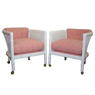 Century Attri. Vintage Faux-Bamboo Chairs - A Pair