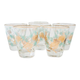 Set of 6 Pinecone Juice Glass by David Douglas for Libbey