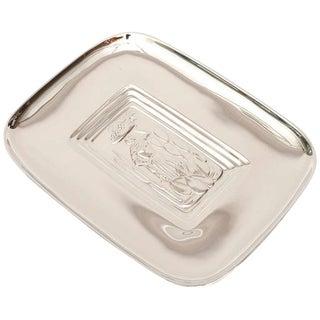 Diego Rivera Style Polished Silver Tray