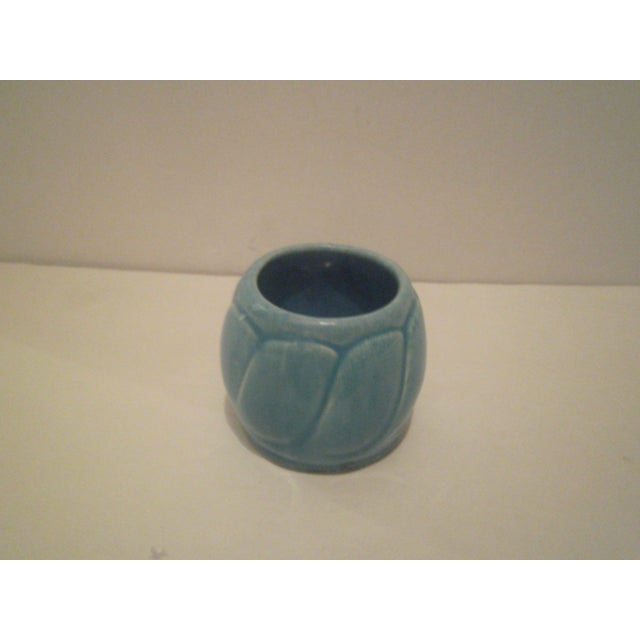 Small Turquoise Broadmoor Pottery Pot - Image 4 of 6