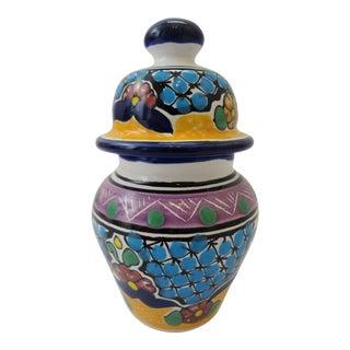Miniature Lidded Hernandez Talavera Ginger Jar