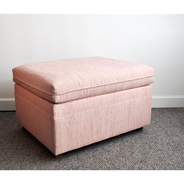 Blush Pink Upholstered Ottoman - Image 7 of 9