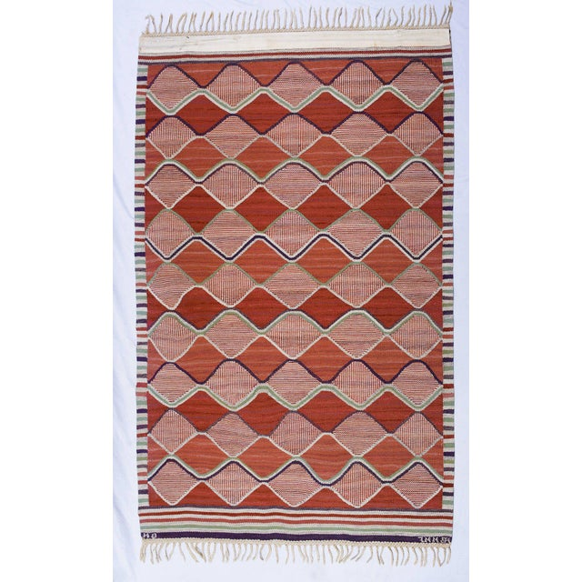 Vintage Barbro Nilsson Flat-Weave Swedish Carpet for Marta Maas-Fjetterström - Image 2 of 10