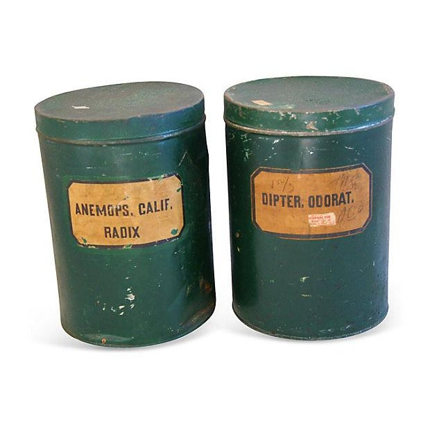 Antique Apothecary Herbalist Tins - Set of Two - Image 1 of 5