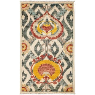 """Suzani Hand Knotted Area Rug - 3'2"""" X 5'1"""""""