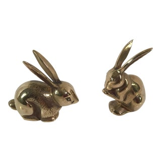 Brass Rabbits by Mid-Century Designer Jack Housman - A Pair