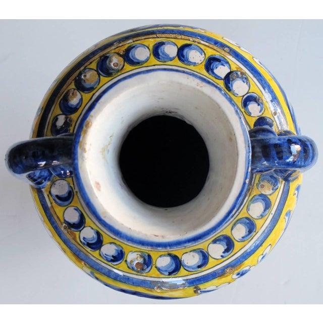 An Italian Tin-Glazed Earthenware Polychrome (majolica) double handled vase - Image 5 of 6