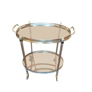 French Style Oval Bar Cart
