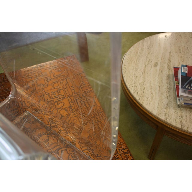 Lucite Spiral Side Table - Image 8 of 10