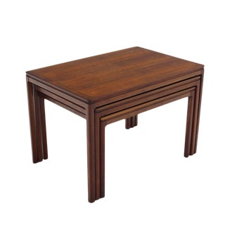 Set of Three Teak Nesting Tables by Dux
