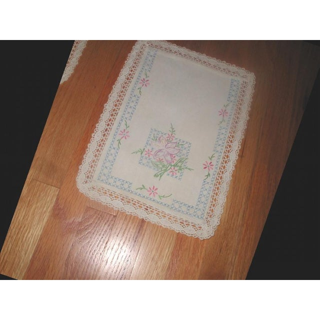 Hand Embroidered Furniture Scarves - Set of 4 - Image 7 of 10