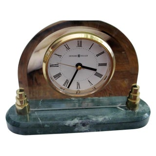 Howard Miller Clock with Green Marble Base