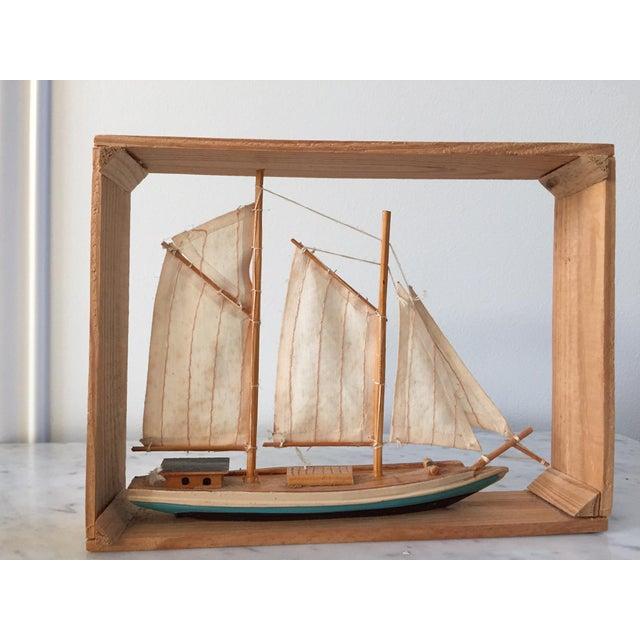 Vintage Sailboat Nautical Decorative Item - Image 3 of 4