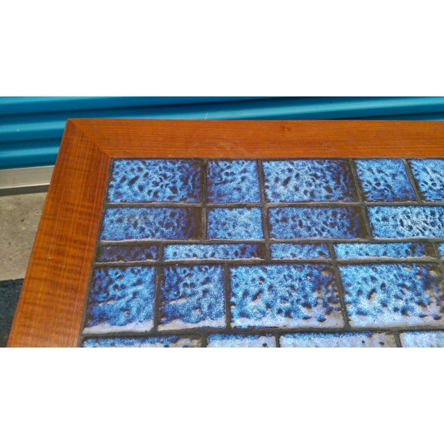 Blue Tiled Coffee Table - Image 7 of 7