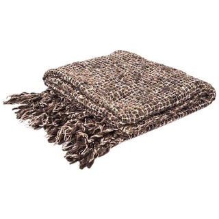 Knubby Woven Wool Blend Throw