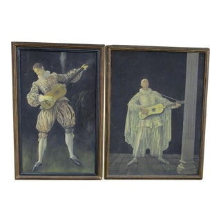 Herman Heyer Vintage Musician Oil Panels - A Pair
