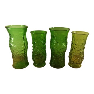 E. O. Brody Crinkle Texture Glass Vases - Set of 4