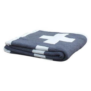 Swiss Cross Organic Cotton Throw