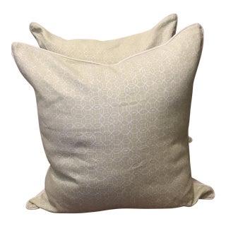 Quadrille Melong Celadon Linen Pillows - A Pair