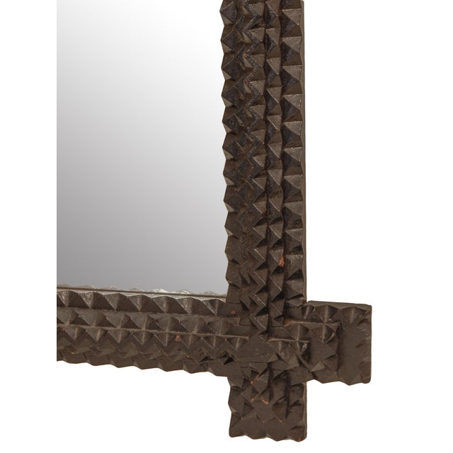 Tramp Art Mirror - Image 6 of 7