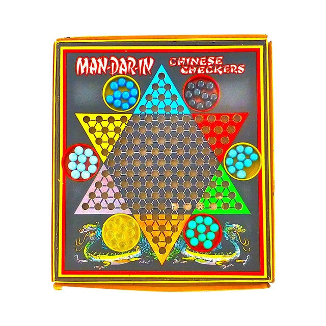 Vintage Man-Da-Rin Chinese Checkers Game, Complete - Image 1 of 7