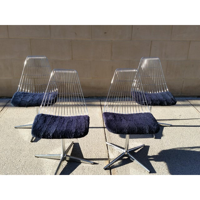 Blue Chromcraft Modern Chairs - Set of 4 - Image 4 of 8
