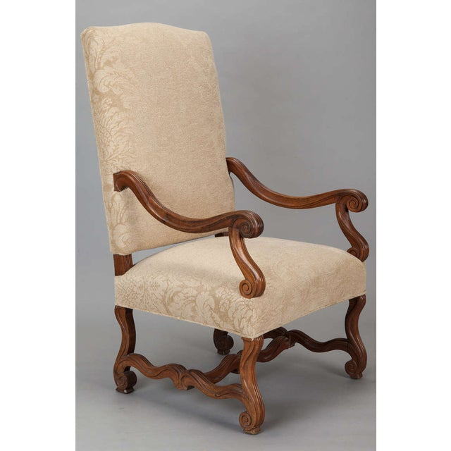 Image of Antique Os Du Mouton Carved Armchairs - A Pair