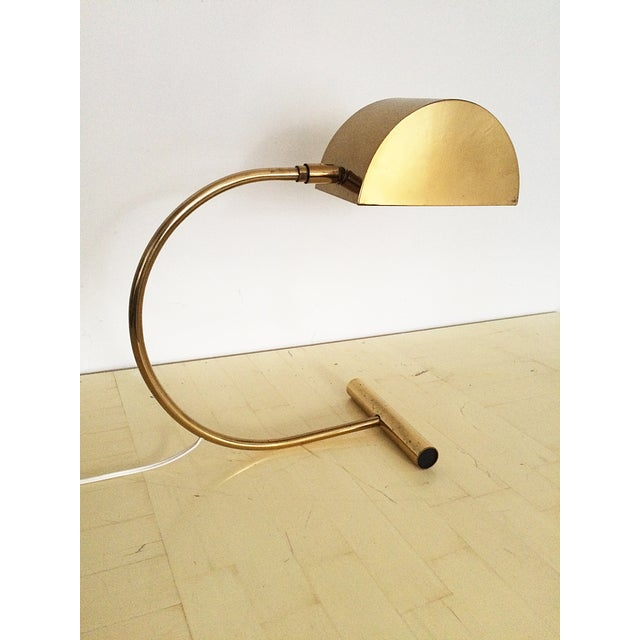 Koch and Lowy Brass Demilune Table Lamp - Image 5 of 11