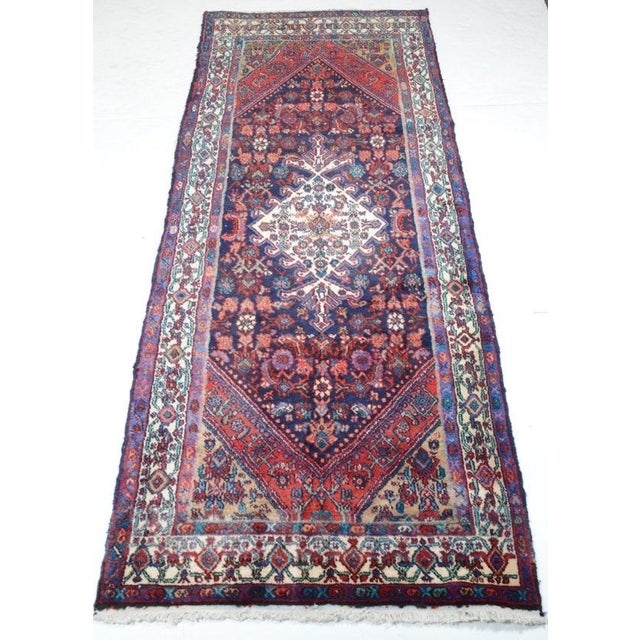 Hand Knotted Persian Mahal Runner - 3′10″ × 10′4″ - Image 6 of 11