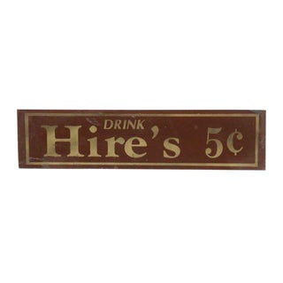 Vintage Hire's Root Beer Sign