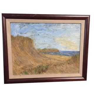 Original Impasto Painting of Matounak Beach