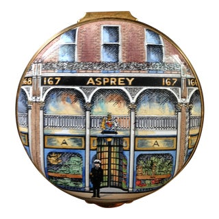 Stratforshire Enamels Asprey Hand-Painted Pillbox