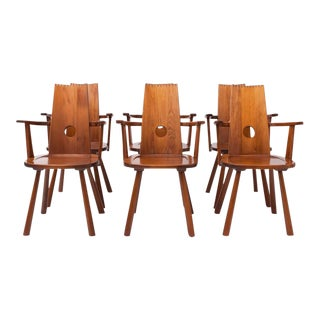 French Mid-Century Modern Dining Chairs