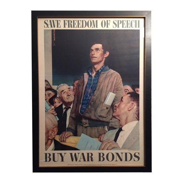 Four Freedoms Posters by Norman Rockwell - Image 1 of 6
