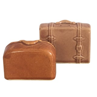 Vintage Suitcase Salt & Pepper Shakers